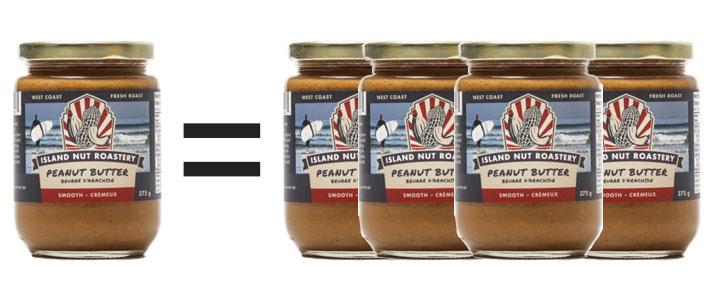 Project Peanut Butter - 1 = 4 Jars